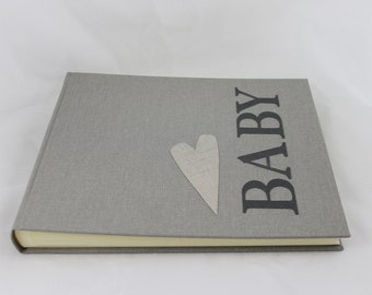 Photo ALBUM 30 x 25 cm-BABY dove grey in Fabric