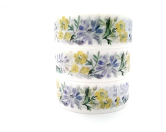 Design Washi tape Flowers Yellow Blue
