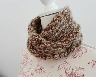 Childs snood made from 100% baby alpaca wool