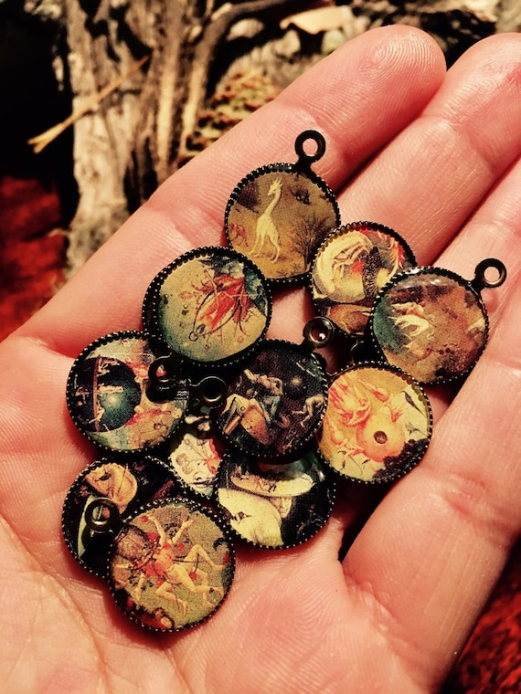 Hieronymus Bosch - Garden of Earthly Delights - Antique Bronze Resin Cameos