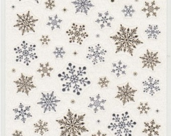 Snowflake Stickers - Paper Stickers - Japanese Stickers - Reference A5872-73