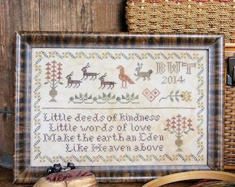 Deeds of Kindness : Cross Stitch Pattern by Heartstring Samplery
