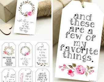 Printable gift tags etsy favorite things my favorite things favorites favorites party favorite thing gift negle Image collections