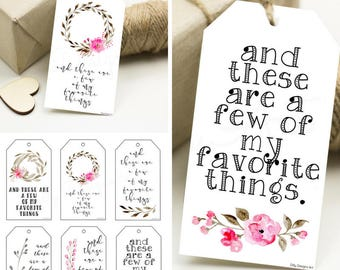 Printable gift tags etsy favorite things my favorite things favorites favorites party favorite thing gift negle Images