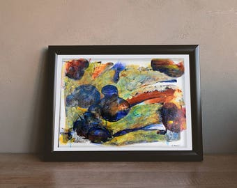 """Abstract Acrylic painting by Naama Bialy - 16""""X20"""" - Celebration - Original"""