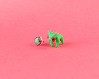 DRAX JEWELRY - Marvel jewelry earrings - gift for geek comics lovers - avengers jewelry earrings - infinity war jewelry earrings - cute cats