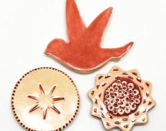 Hummingbird, Flower, and Sun Magnet (Set of 3)