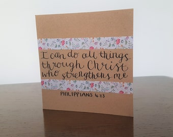 I can do all things greetings card