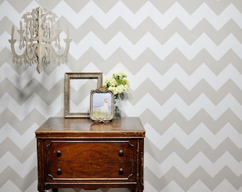 Chevron Wall Stencil Reusable