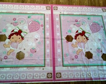 Strawberry Shortcake fabric panels 2008 Crafting Piecing Lot