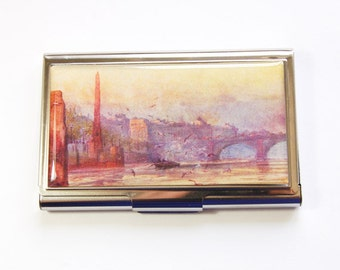Business Card Case, Card case, business card holder, Landscape, London Painting, London landscape  (2986)