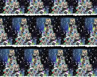Frenchy Christmas Tree fabric