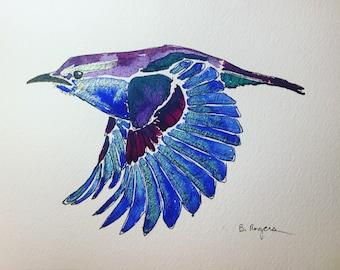 Original Watercolor Bird Art