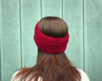 Crochet headband, womans ear warmer, crochet head warmer, crochet chunky headband, winter headband, crochet ear warmer, crochet turban