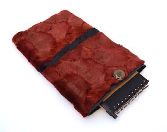 "Tablet case, fur case, real fur sleeve cover, mink fur tablet case, Apple fur tablet cover, Samsung tablet 8"" sleeve fur phone case."
