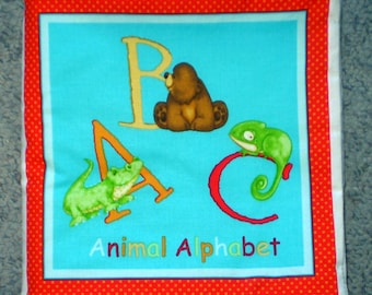 Animal Alphabet cloth book
