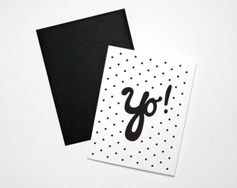 Funny Hello Card- Yo!