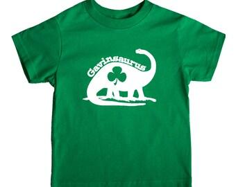 St. Patricks Day dinosaur Shamrock Shirt  - Personalized Shamrock Shirt - You choose the colors!