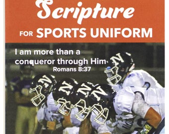 Iron on Scripture for Sports Uniform