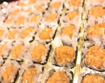 32x Gourmet Brigadeiro Truffles  with toasted coconut, Belgian Chocolate with  Toasted Coconut,  Brazilian Truffles – Delicious Edible Gifts