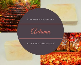 Autumn Hair Care | PRE-ORDER | Handmade | Shampoo Bar | Conditioner Bar | Solid Shampoo | Solid Conditioner | Travel Shampoo | Sulfate Free