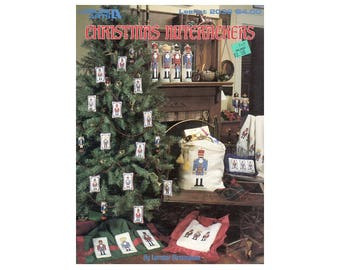 Christmas Nutcrakers Cross Stitch Pamphlet, Christmas Ornaments, Christmas Pillows, Christmas Decorations, Craft Book by NewYorkTreasures