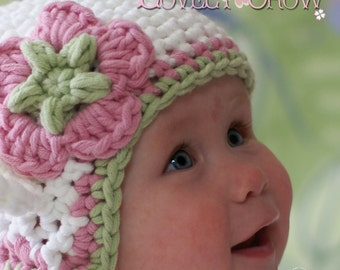Hat Crochet Pattern for Babies or Toddlers  Bulky Yarn Monkey Earflap Beanie