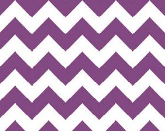 "Riley Blake Medium Chevron print in  Purple- 14"" piece"