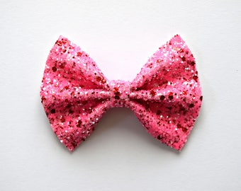 Strawberry Glitter Bow Photo Prop Pictures Headband for Newborn Baby Little Girl Child Adult Spring Summer Valentines Holiday Easter Clip