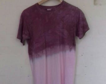 Fruit of the loom 90's purple and white tie dye T shirt - small