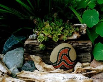 Zen Art Nature Photography Still Life Wall Art Unique Gifts Idea Driftwood Rocks Green Plants Serene Garden Scene