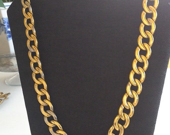 Beautiful Chunky Gold Color Napier Vintage Necklace