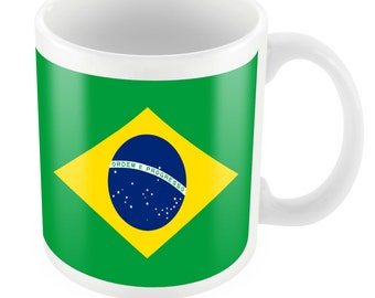 Brazil Road To World Cup Ceramic Mug Gift Birthday Present Novelty Brasil 2014