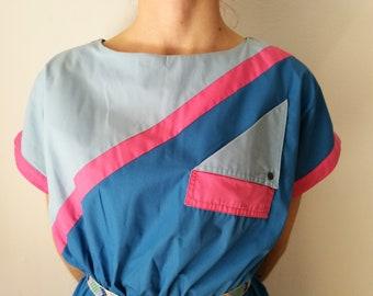 Skater Midi Dress    50s Dress    Turquoise Dress    Light Blue Dress    High waisted Dress    Retro Dress    Midi Dress    Swing Dress