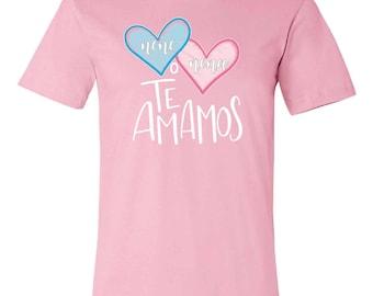 Baby Reveal/Announcement Nene o Nena Te Amamos Unisex T-Shirt