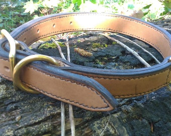 Double leather dog collar