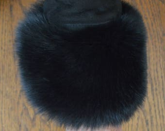 Fox Fur Cuffs in black or brown made in usa new