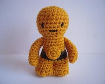 Crocheted Stuffed Amigurumi Star Wars C-3PO Plush Toy