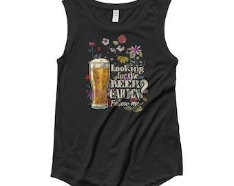 Ladies' Cap Sleeve Beer Garden T-Shirt