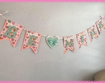 Conversation Hearts Valentine's Day Banner