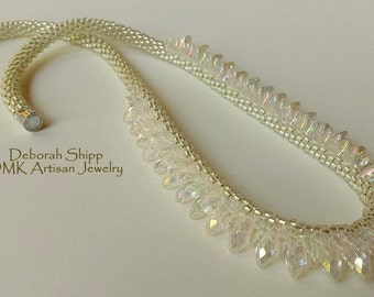 """TUTORIAL ONLY - """"Diamonds Are Forever"""" Kumihimo Necklace"""