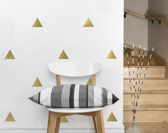 Wall Decals Triangles 56 Large Gold or Silver Triangle Wall Decals and Color Vinyl Wall Decals