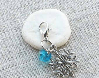 Snowflake Stitch Marker- Crochet Marker- Knitting Marker- Winter Stitch Marker- Locking Stitch Markers- Removable Stitch Marker- Snag free