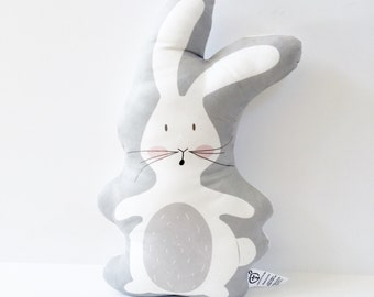 Bunny Pillow, Easter Bunny, Nursery Pillow, Easter Gift, Baby, Kids Gift, Rabbit, Baby Gift, White Bunny, White Rabbit, Nursery Cushion