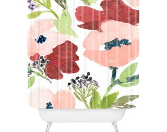 Pink Poppies Shower Curtain