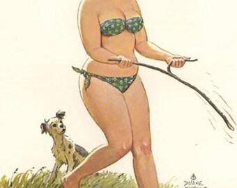 Vintage Hilda Plus Size Girl 1950's  Reproduction Print #8