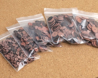 50 pcs genuine cow leather spacer washer leather spacer bead 6mm to 14mm wholesale Y106