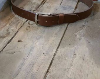 Wider leather belt