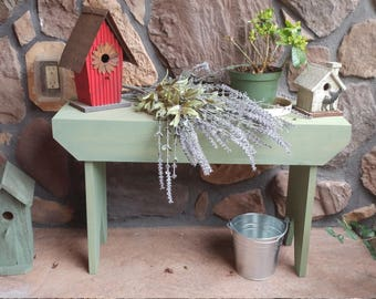 Solid Wood Decorative Bench ** Custom Made to Order in Various Sizes and Finish Options