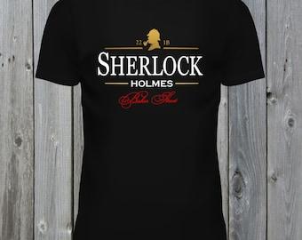 Sherlock Holmes T Shirt. 22 1B Baker Street Tee